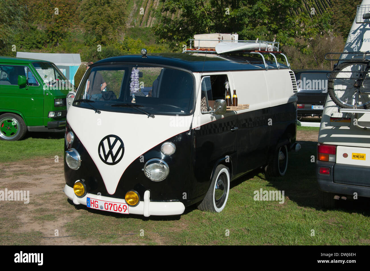 VW bus meeting, Hatzenport - Stock Image