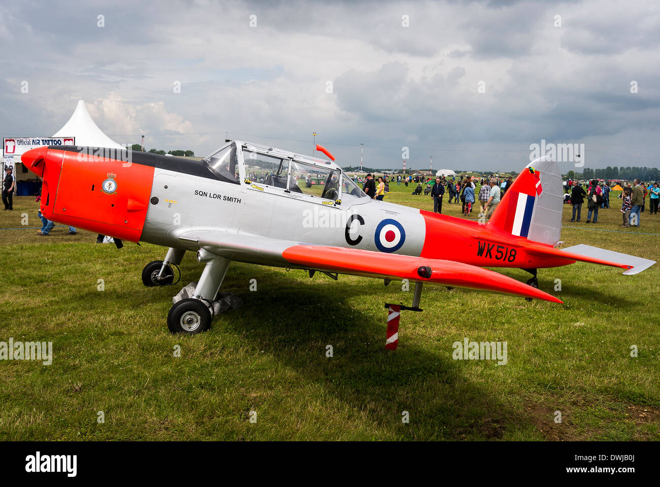 De Havilland Chipmunk training aircraft in service with Battle of Britain Memorial Flight UK - Stock Image