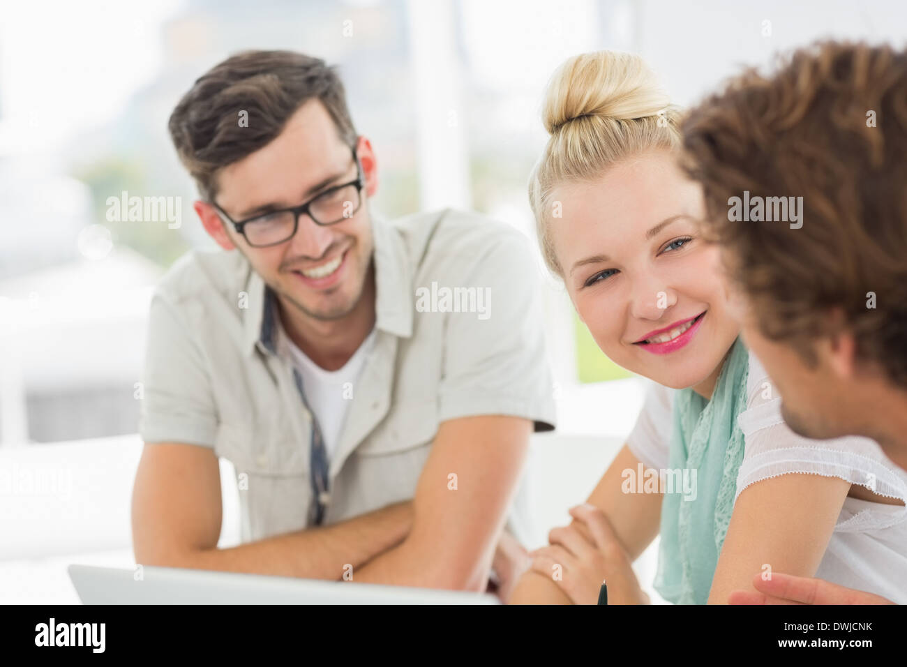 Closeup of a group of casual people Stock Photo