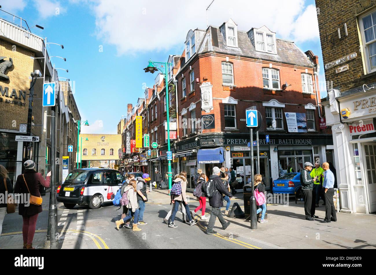 Brick Lane, Tower Hamlets, East London, England, UK - Stock Image