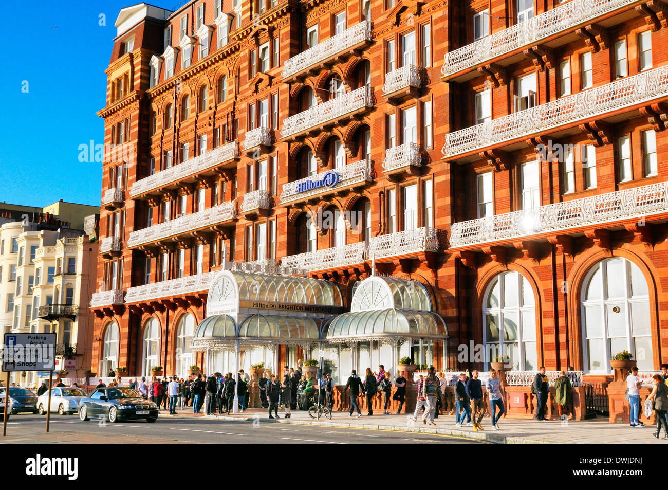 Hilton Brighton Metropole hotel, King's Road, Brighton, East Sussex, England, UK - Stock Image