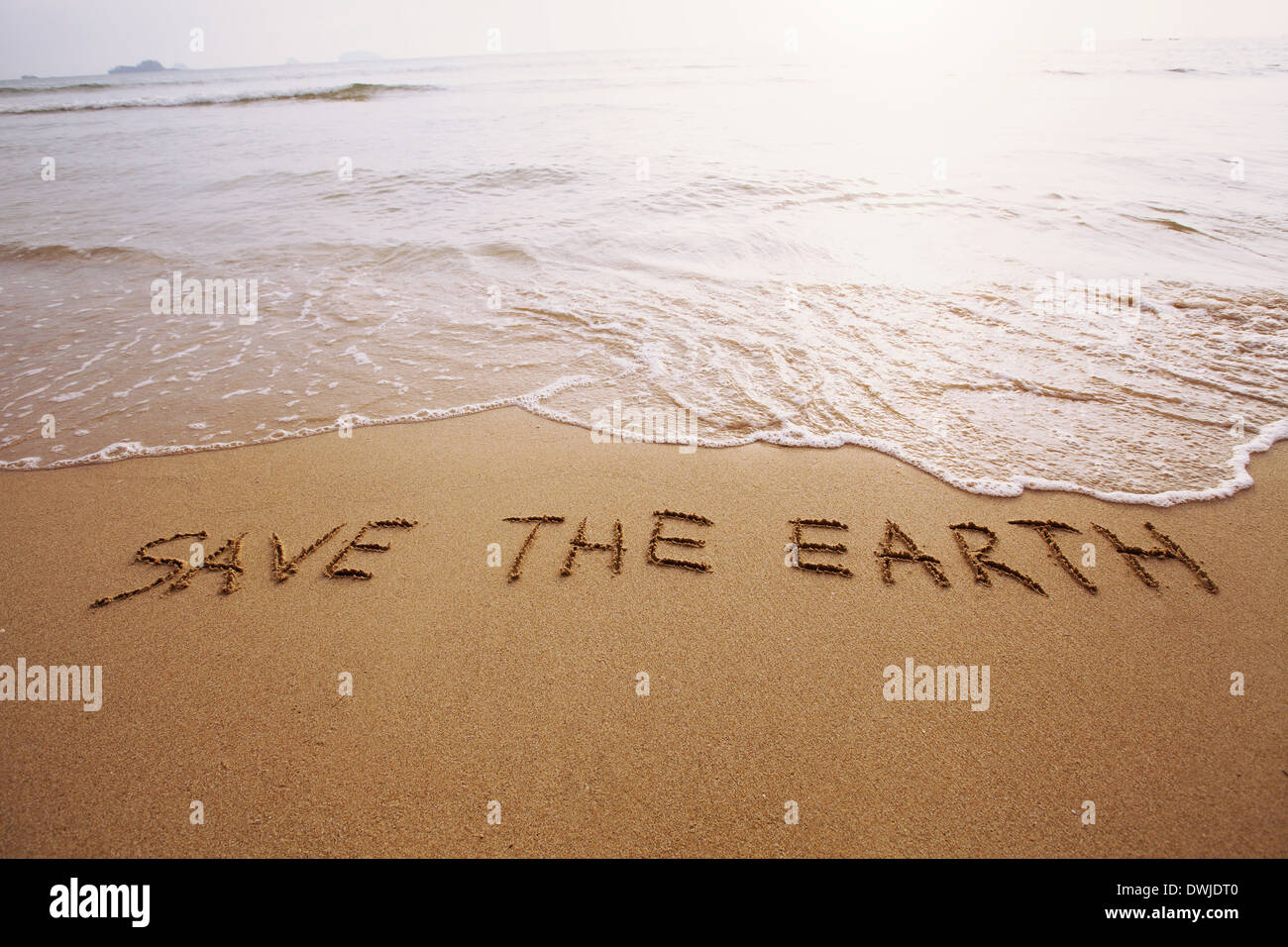 save the earth - Stock Image