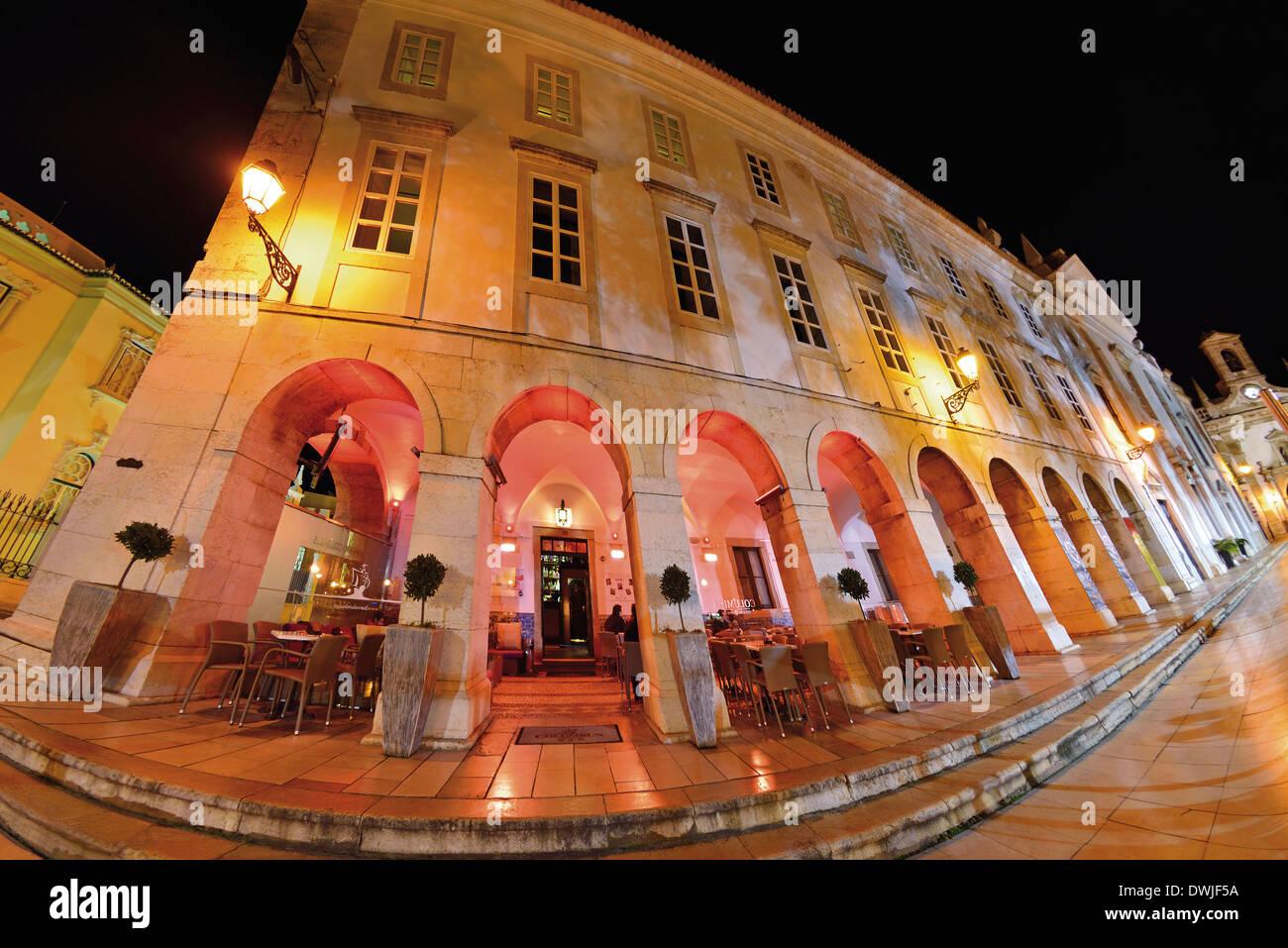 Portugal, Algarve: Historic building of the Columbus Bar in Faro - Stock Image