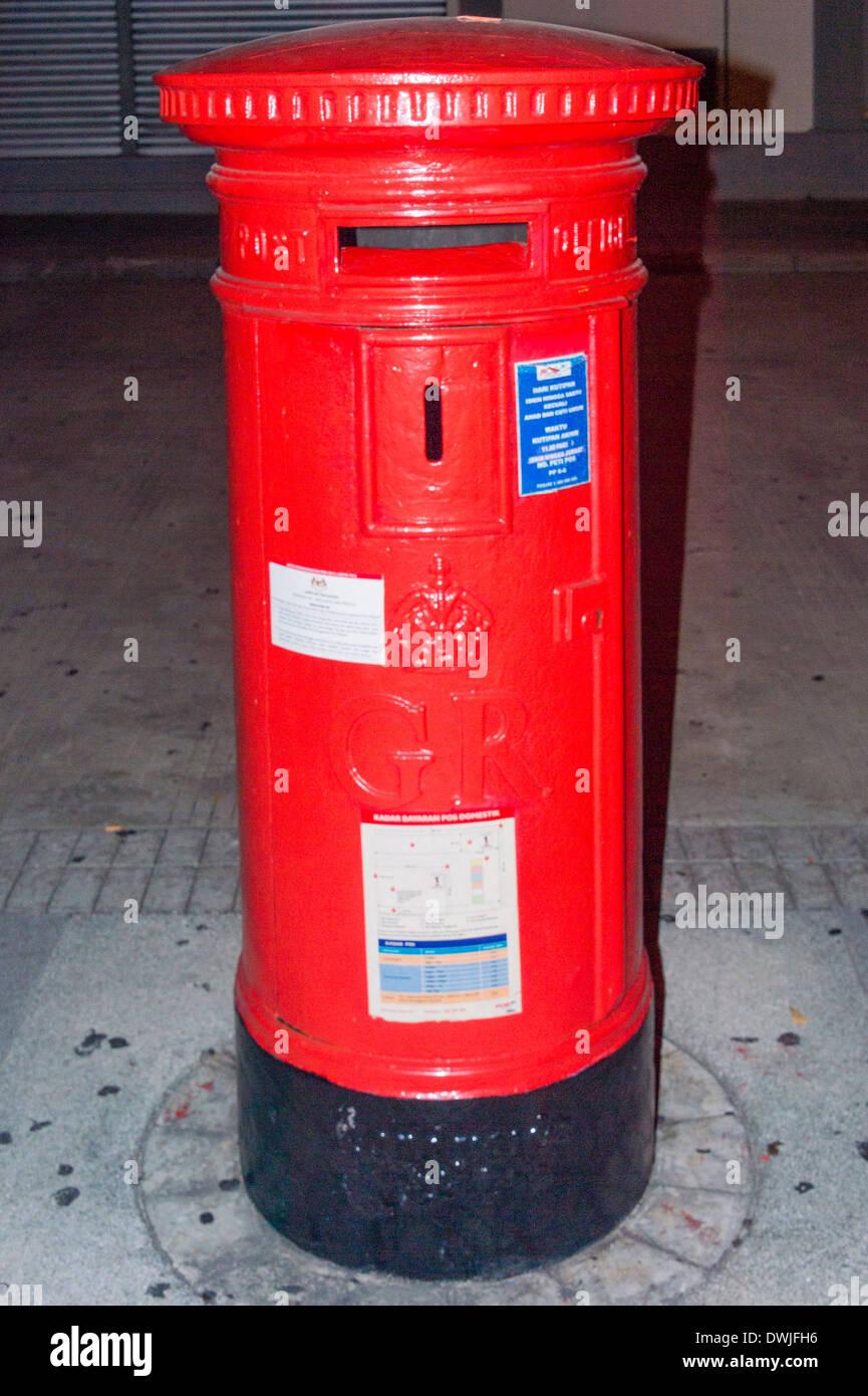 A traditional postbox on Penang - Stock Image
