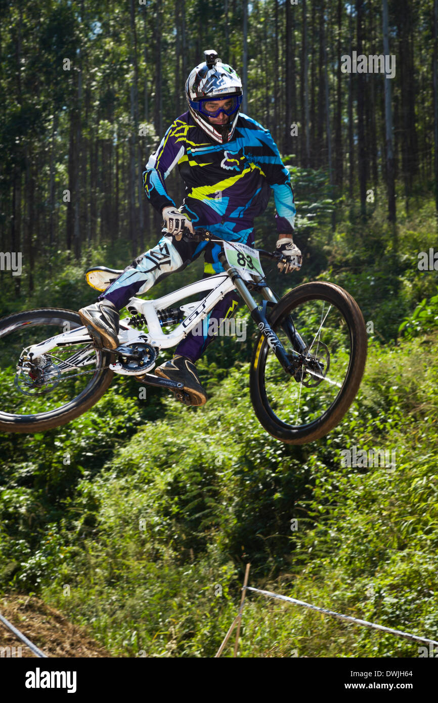 Mountain Biking Images XC DH Cross country and downhill - Stock Image