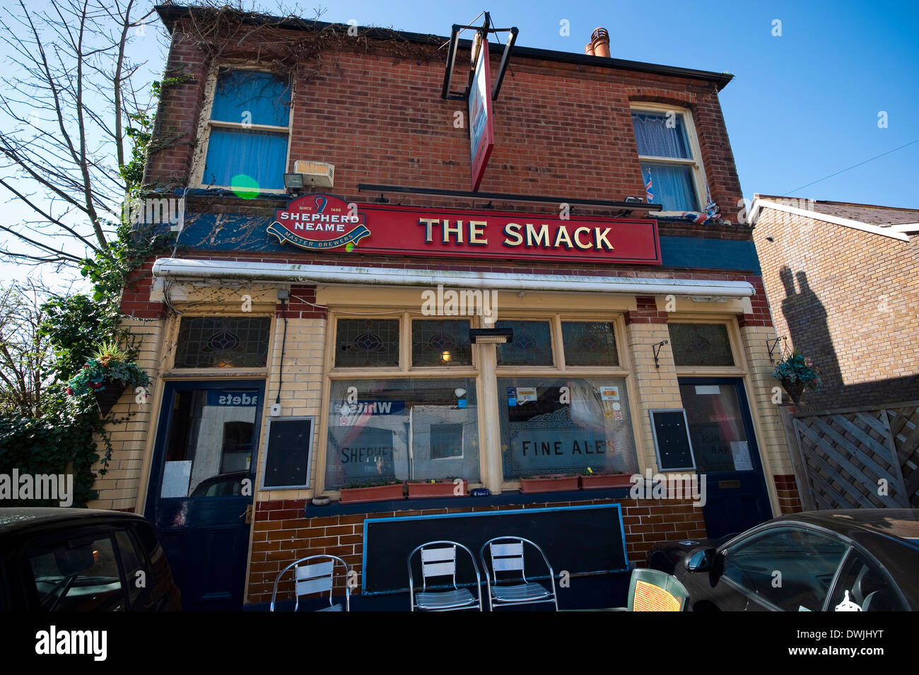 The Smack public house in Whitstable, Kent, UK - Stock Image