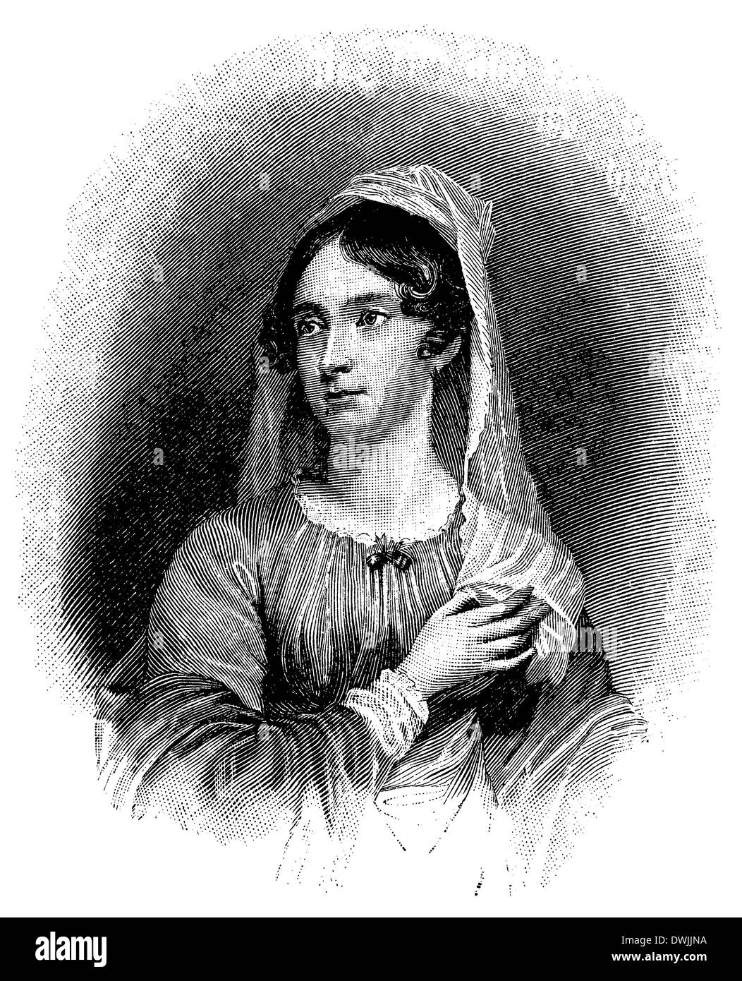 Anne Isabella Byron, Baroness Byron (born May 17, 1792, Seaham, Durham, died Mai 16, 1860, London), Lord Byron's wife. According to an engraving of W. Find - Stock Image