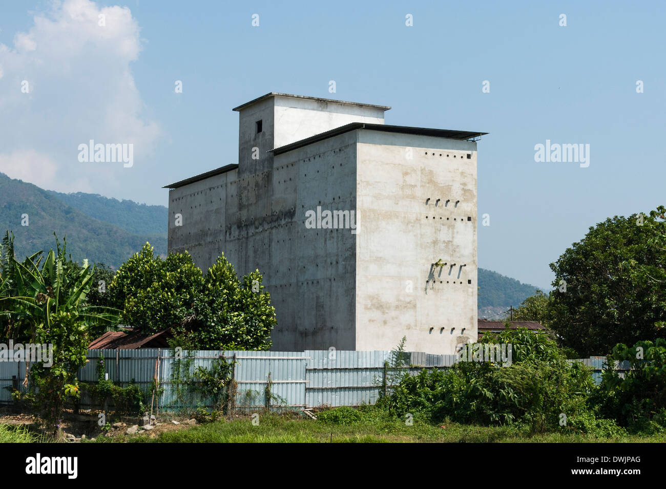A Swiftlet farming house - Stock Image