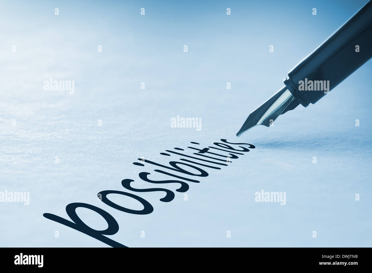 Fountain pen writing Possibilities - Stock Image