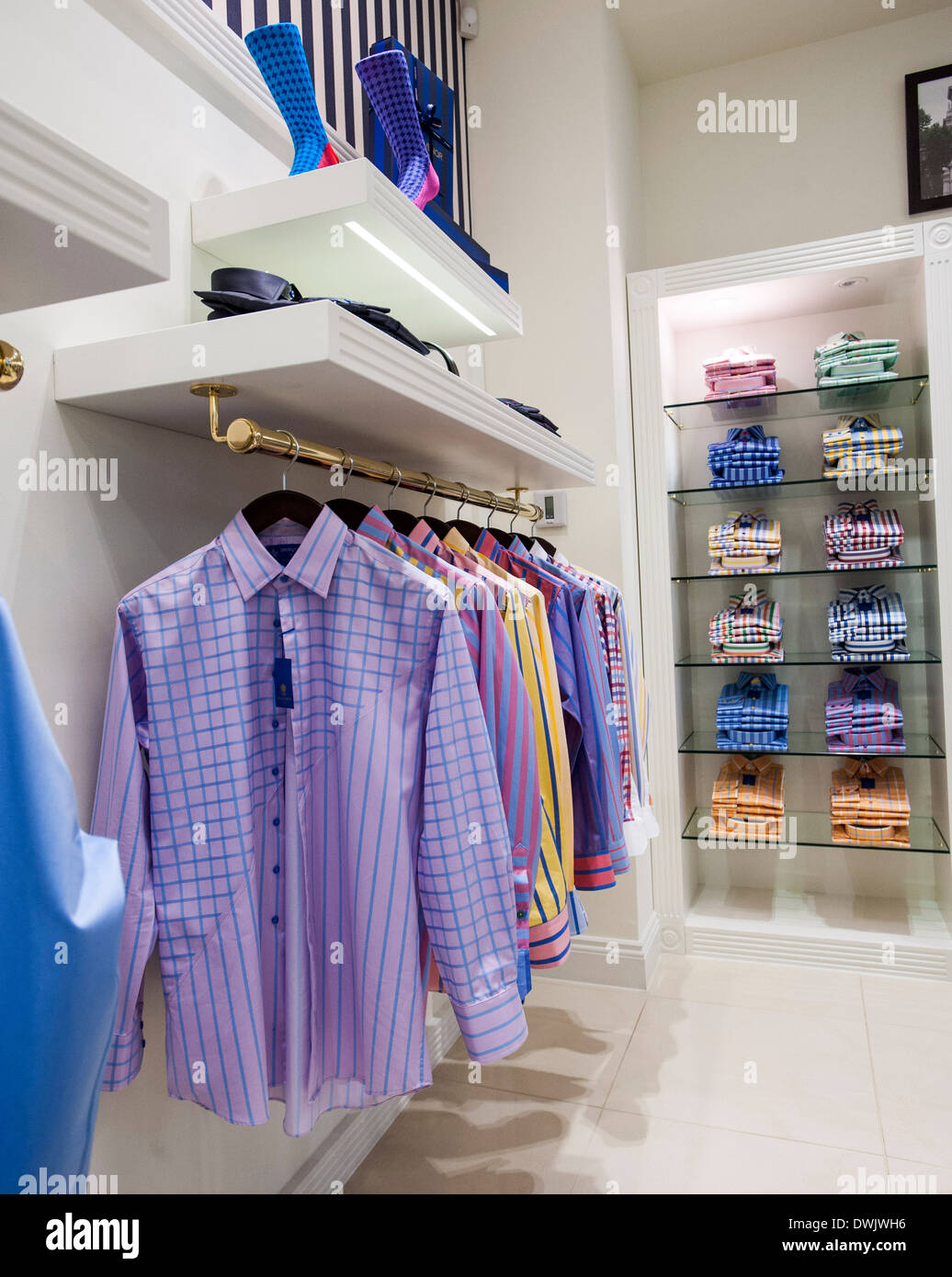 fdb9b87dbac Newly opened Grosvenor Shirts Jermyn street store. Bespoke tailored shirts  in the vein of the more modern designers of Saville R