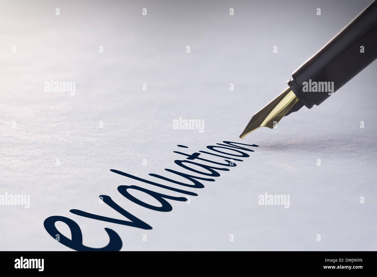 Fountain pen writing Evaluation - Stock Image