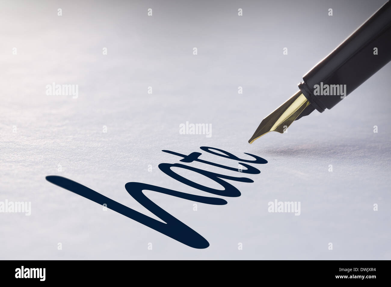 Fountain pen writing Hate - Stock Image