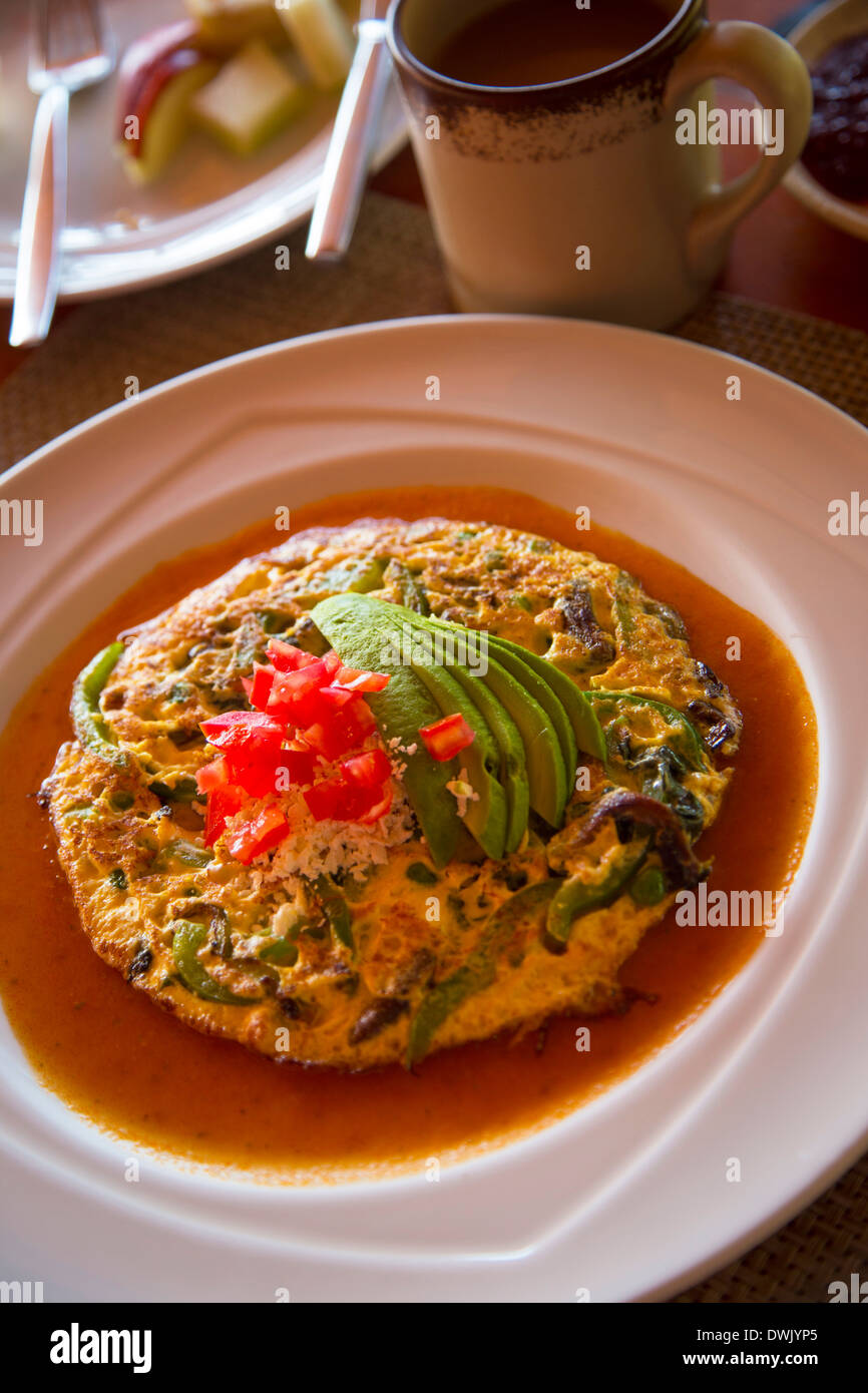 Mexico breakfast food mexican frittata - Stock Image