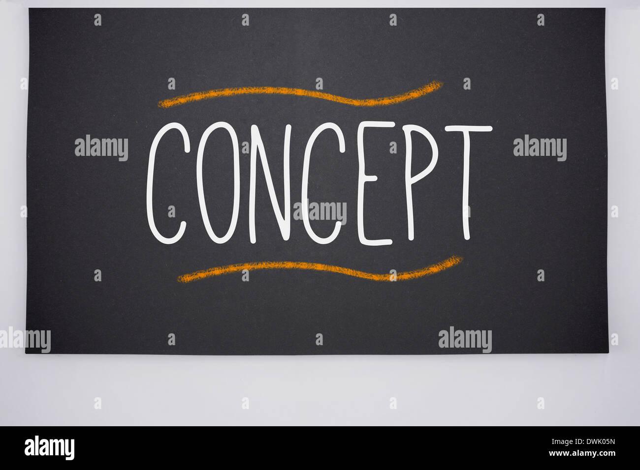 Concept written on big blackboard - Stock Image