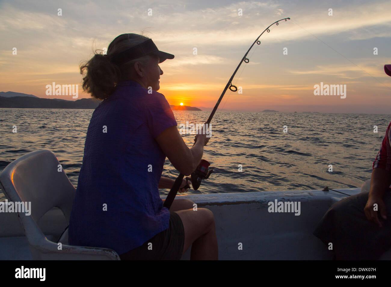 Fishing, Zihuatanejo, Ixtapa, Guerrero, Mexico - Stock Image