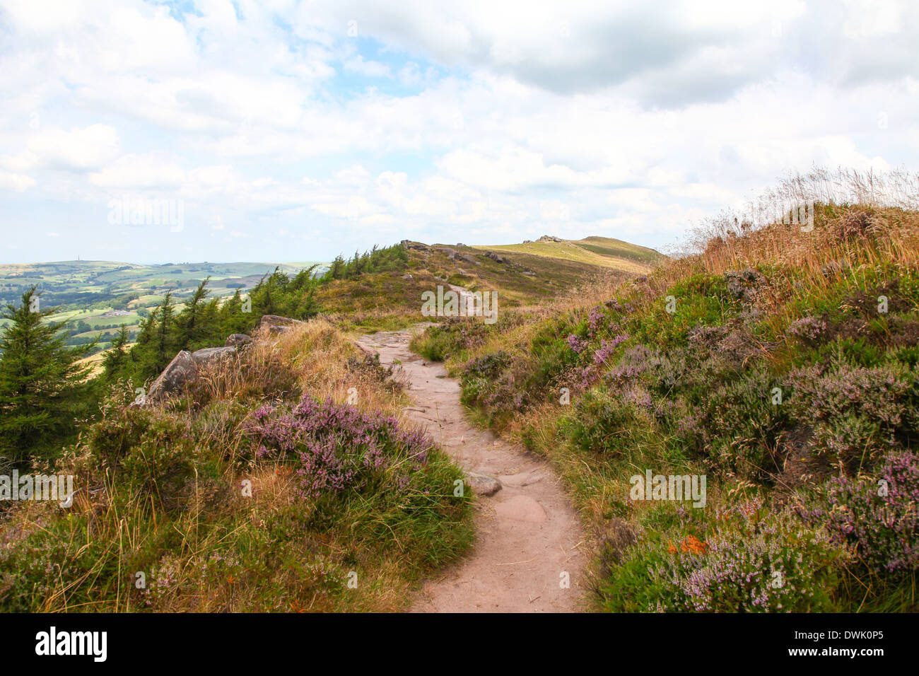 The Roaches Staffordshire Peak District - Stock Image