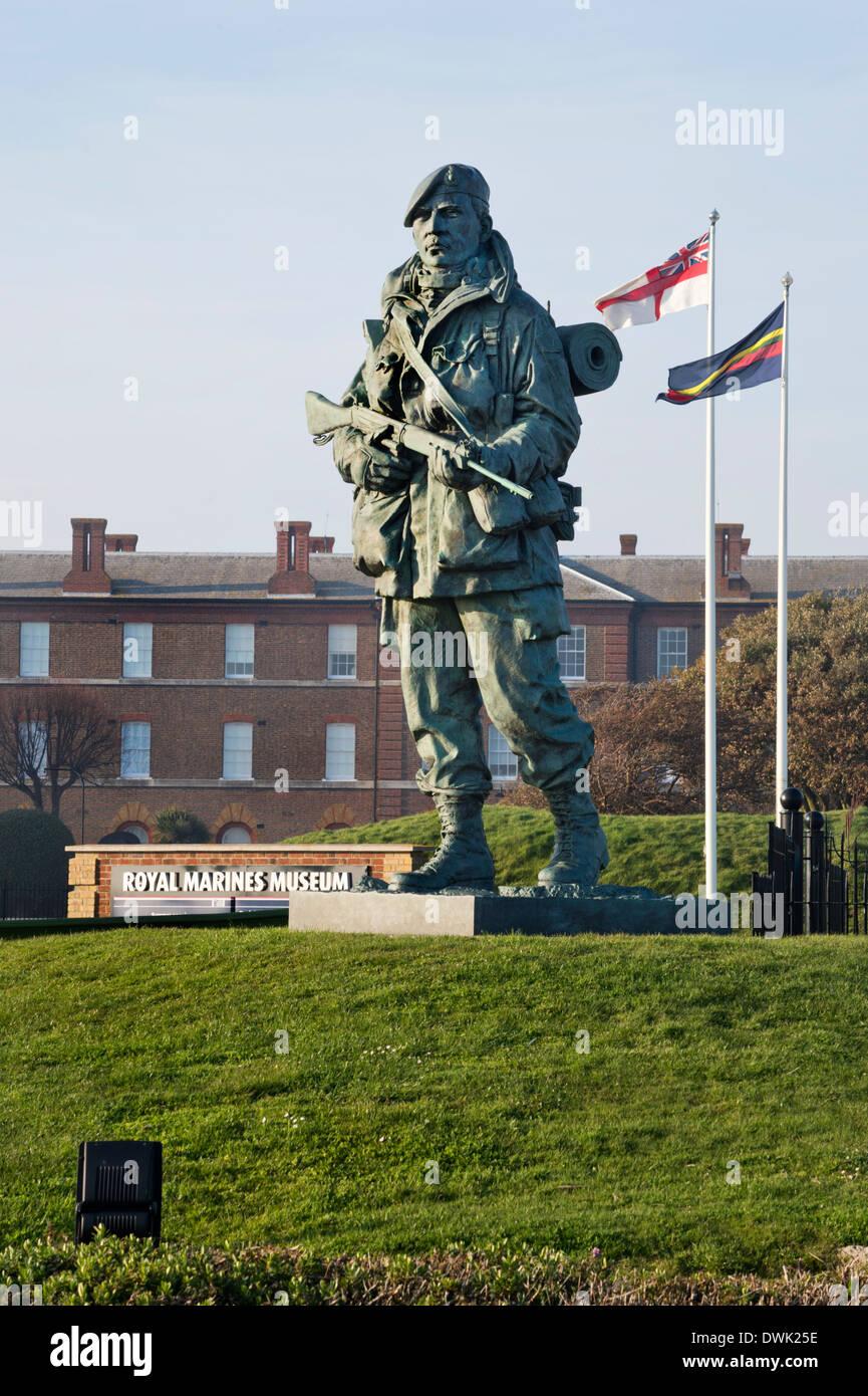The Royal Marines Museum, Esplanade, Southsea, Hampshire, UK - Stock Image