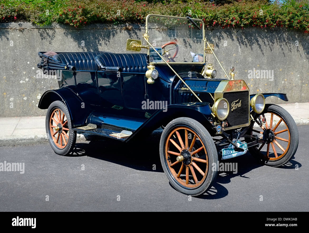 Converable Model T Ford motorcar in Ireland - Stock Image
