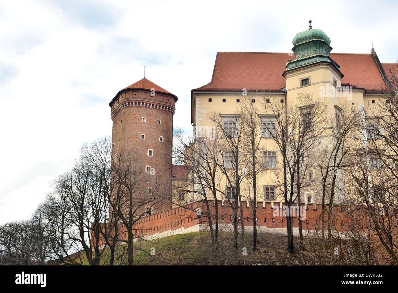Senatorska Tower in the Royal Castle on Wawel Hill Zamek Królewski na Wawelu - Stock Image