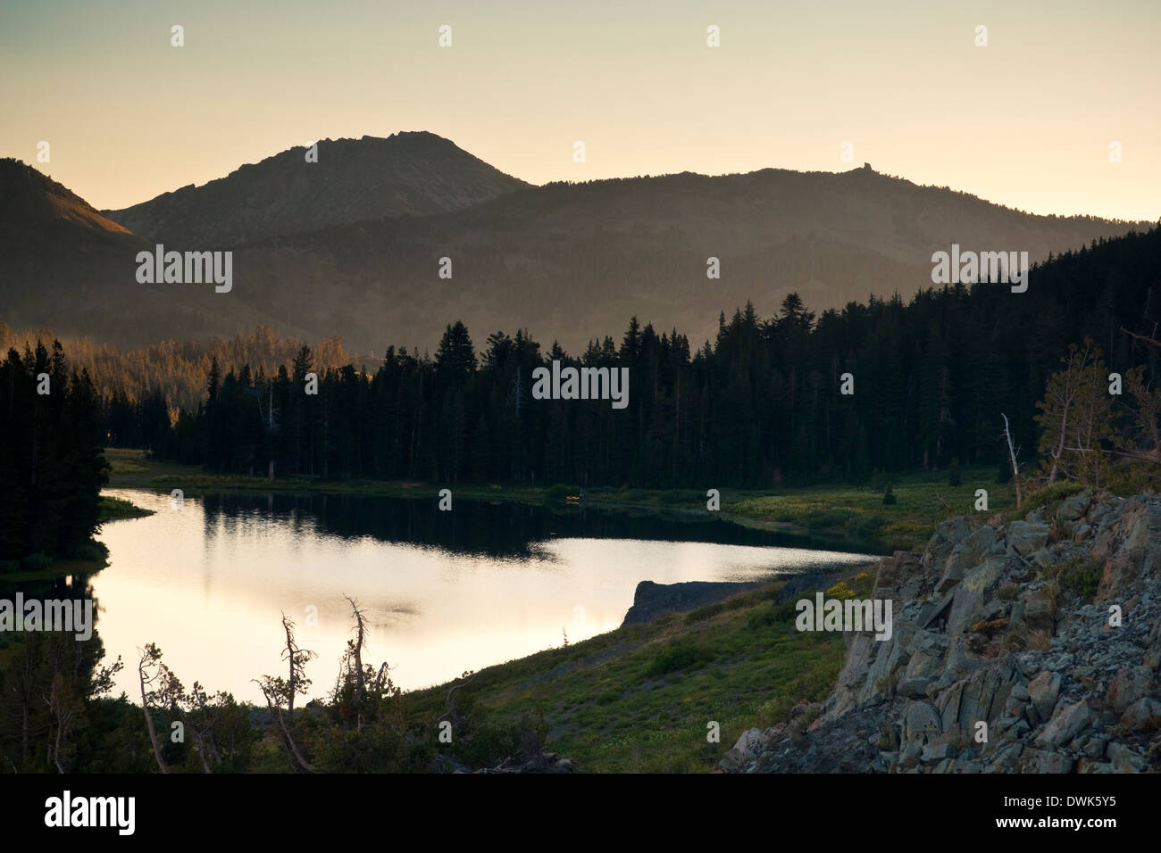 Highland Lake, Stanislaus National Forest. Alpine County, California - Stock Image