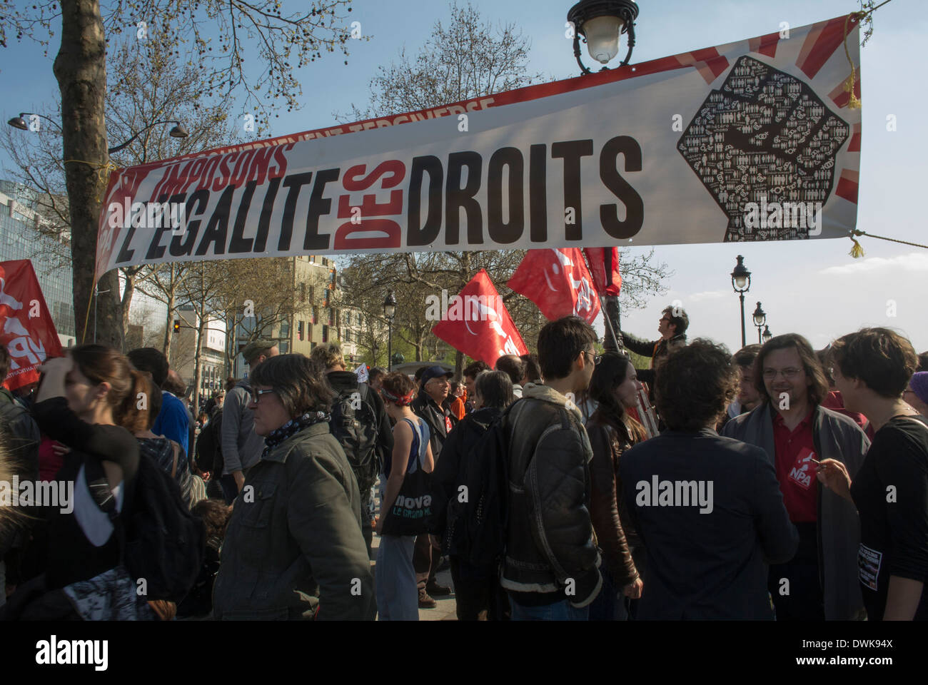 Paris, France, Left wing political Party, Group, NPA ...