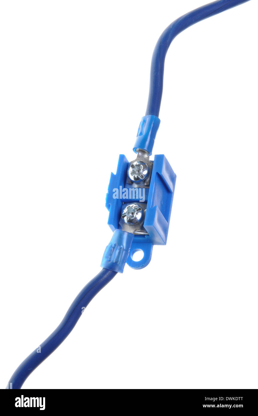 Wire Connector Terminal Block Stock Photos Wiring Distribution Electric Power Cable With Image