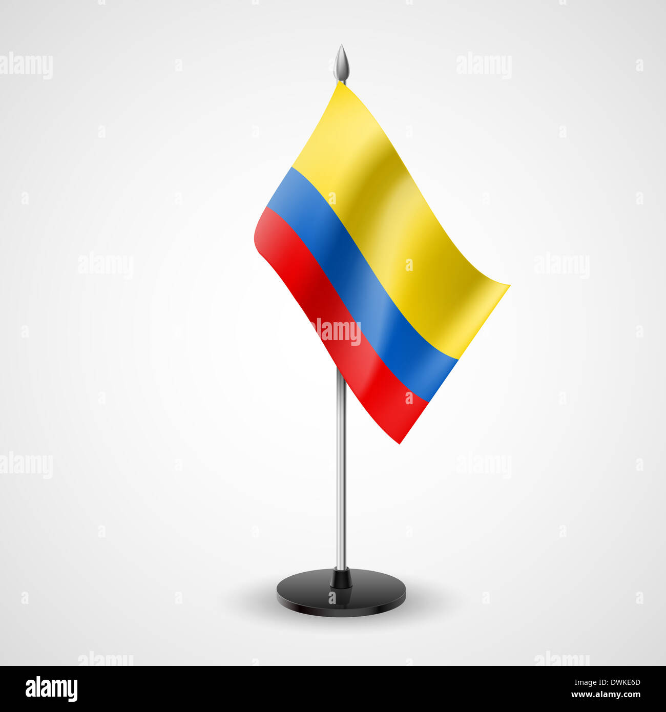 State table flag of Colombia. National symbol - Stock Image