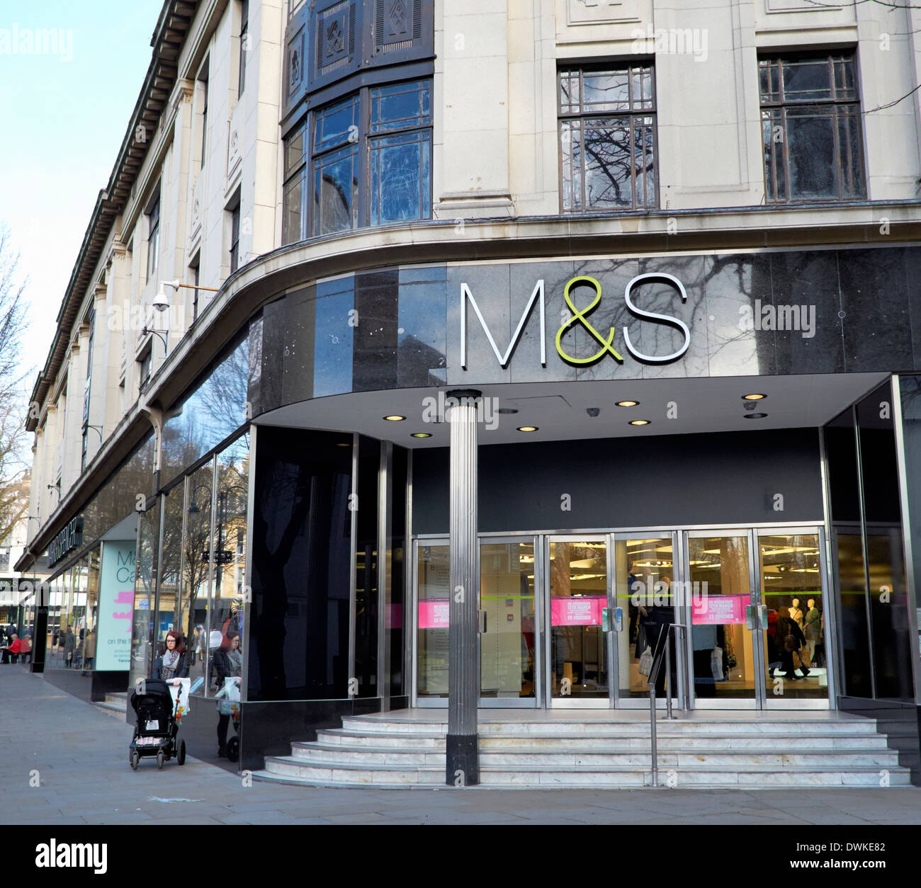 Marks and Spencer high street retailer shop front - Stock Image