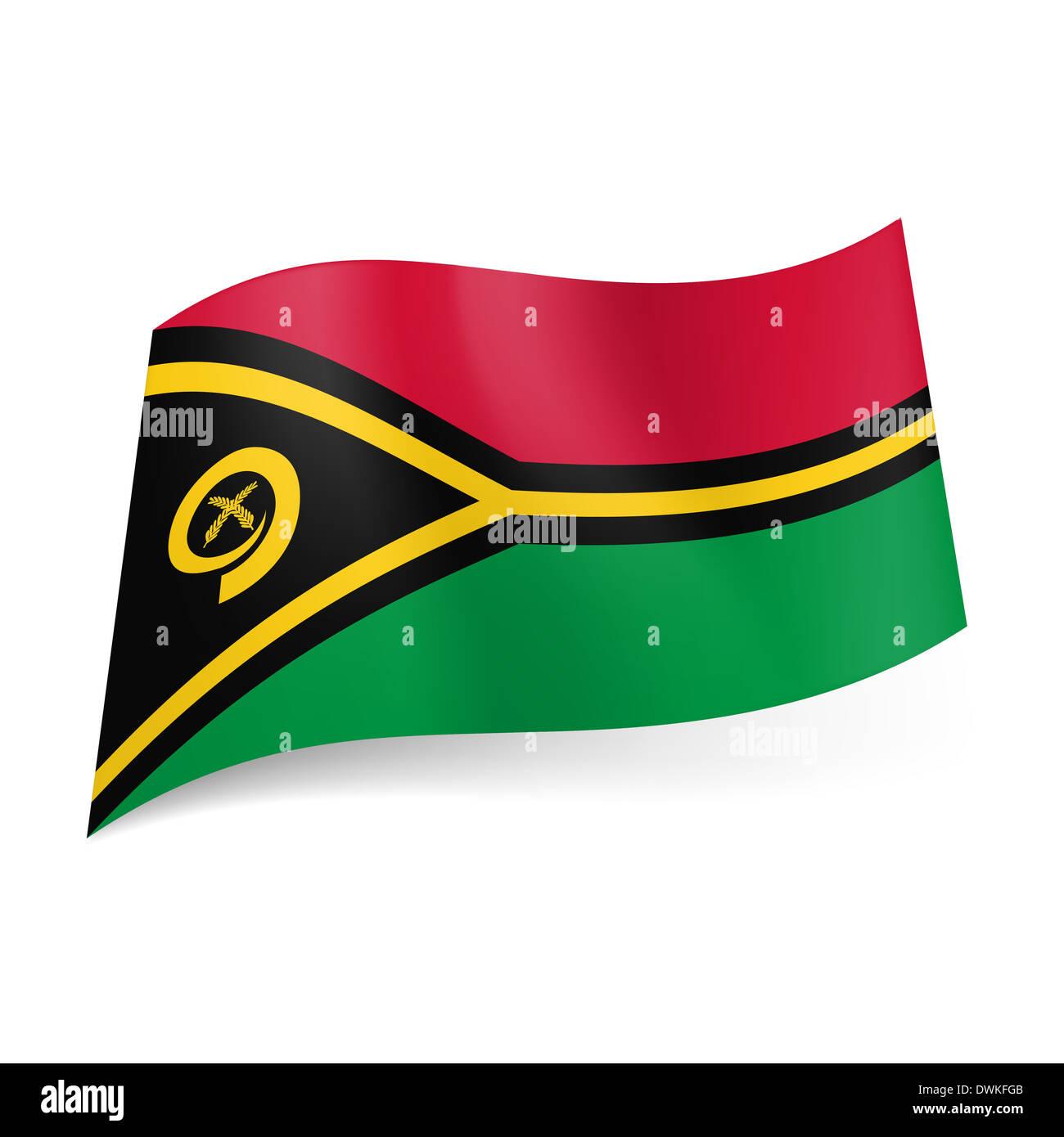 National Flag Vanuatu Red Green Stock Photos National Flag Vanuatu