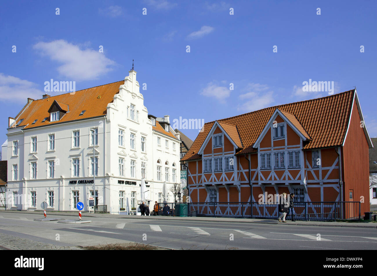 Hotel New Orleans and Gewolbe, Wismar - Stock Image