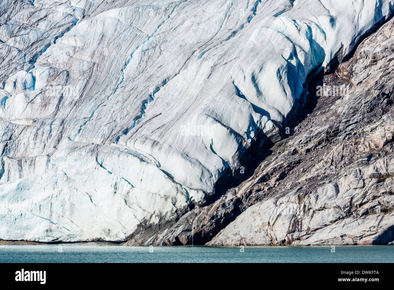 Glacier detail in Icy Arm, Baffin Island, Nunavut, Canada, North America Stock Photo