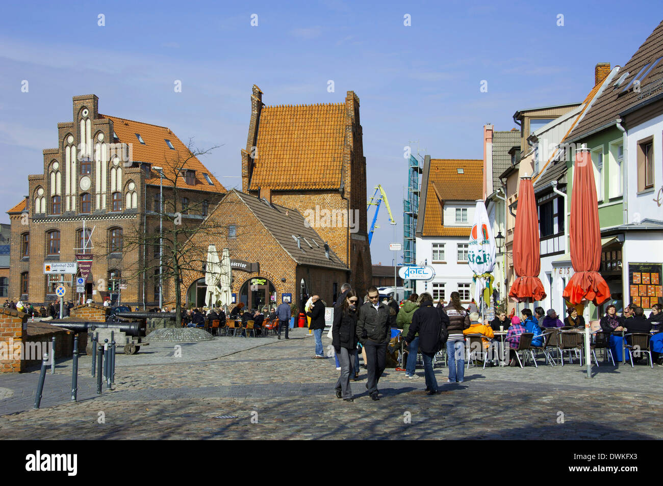 Custom house, Wismar - Stock Image
