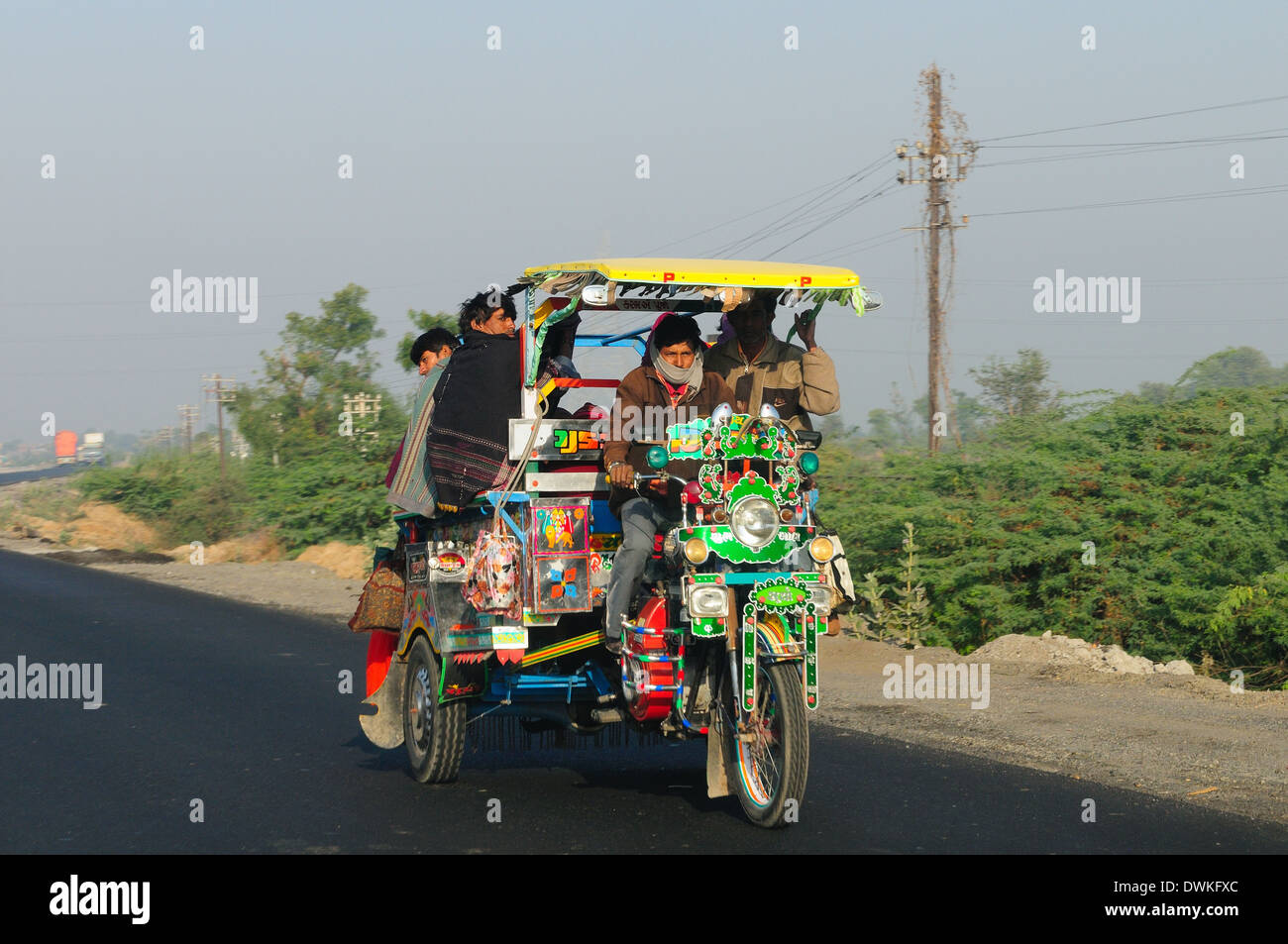 Road transport in Western India, Gujarat, India, Asia - Stock Image
