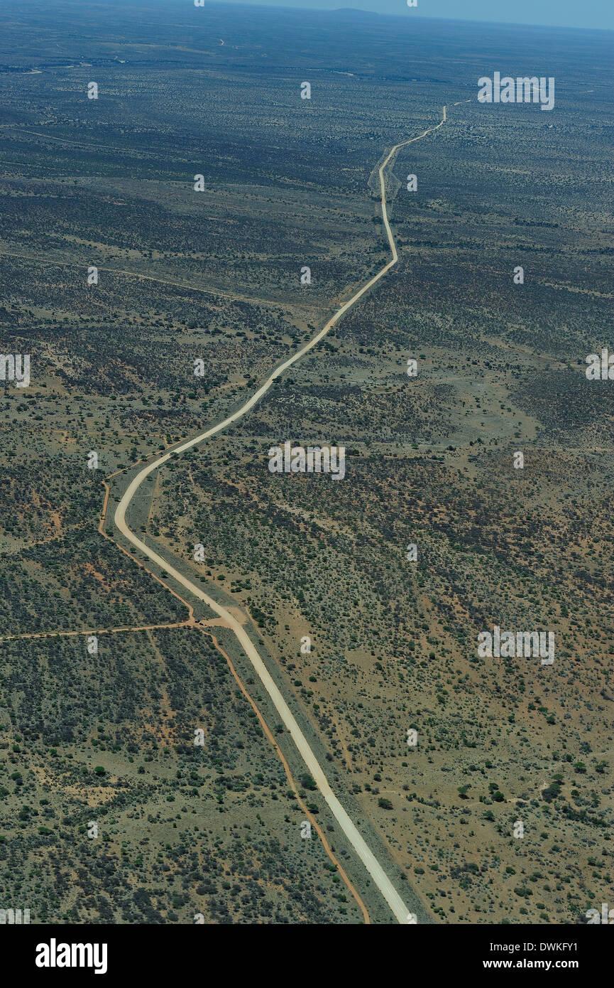 Road in the Namibian desert, Namibia, Africa - Stock Image