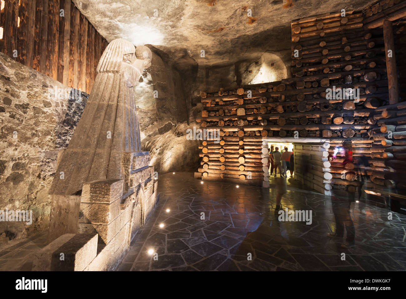 Tourist route, Wieliczka Salt Mine, UNESCO World Heritage Site, Krakow, Malopolska, Poland, Europe Stock Photo
