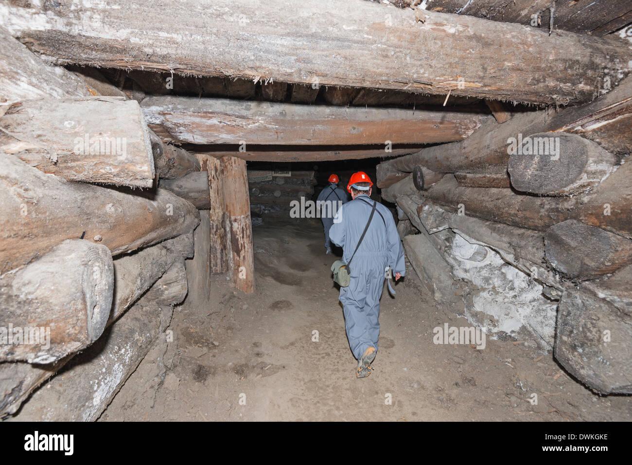 Miners route, Wieliczka Salt Mine, UNESCO World Heritage Site, Krakow, Malopolska, Poland, Europe - Stock Image