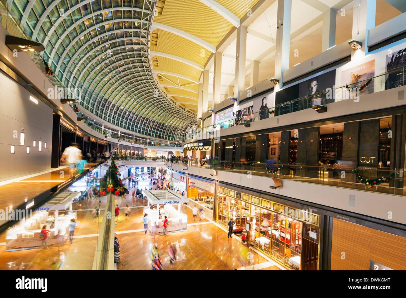 Marina Bay Sands Mall, Singapore, Southeast Asia, Asia - Stock Image