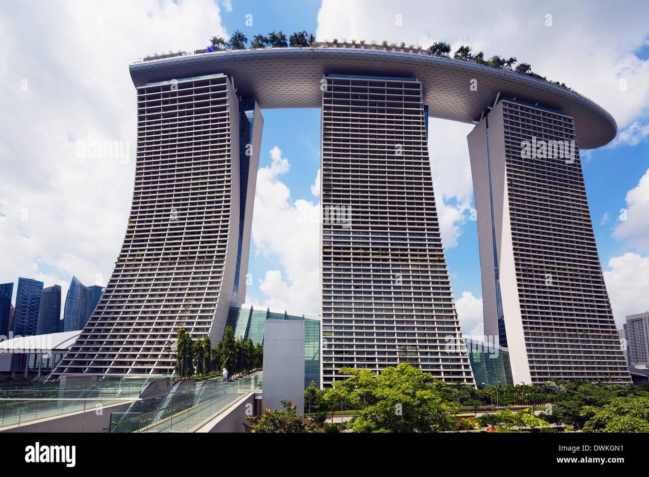 Marina Bay Sands Hotel, Singapore, Southeast Asia, Asia - Stock Image