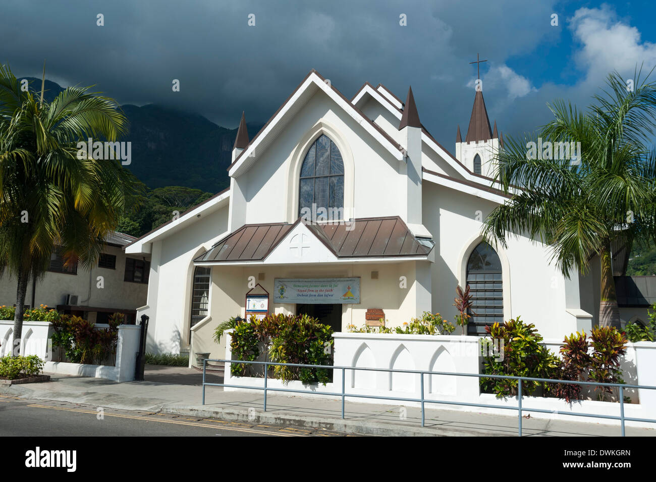 Victoria, Mahe, Seychelles, Indian Ocean, Africa - Stock Image