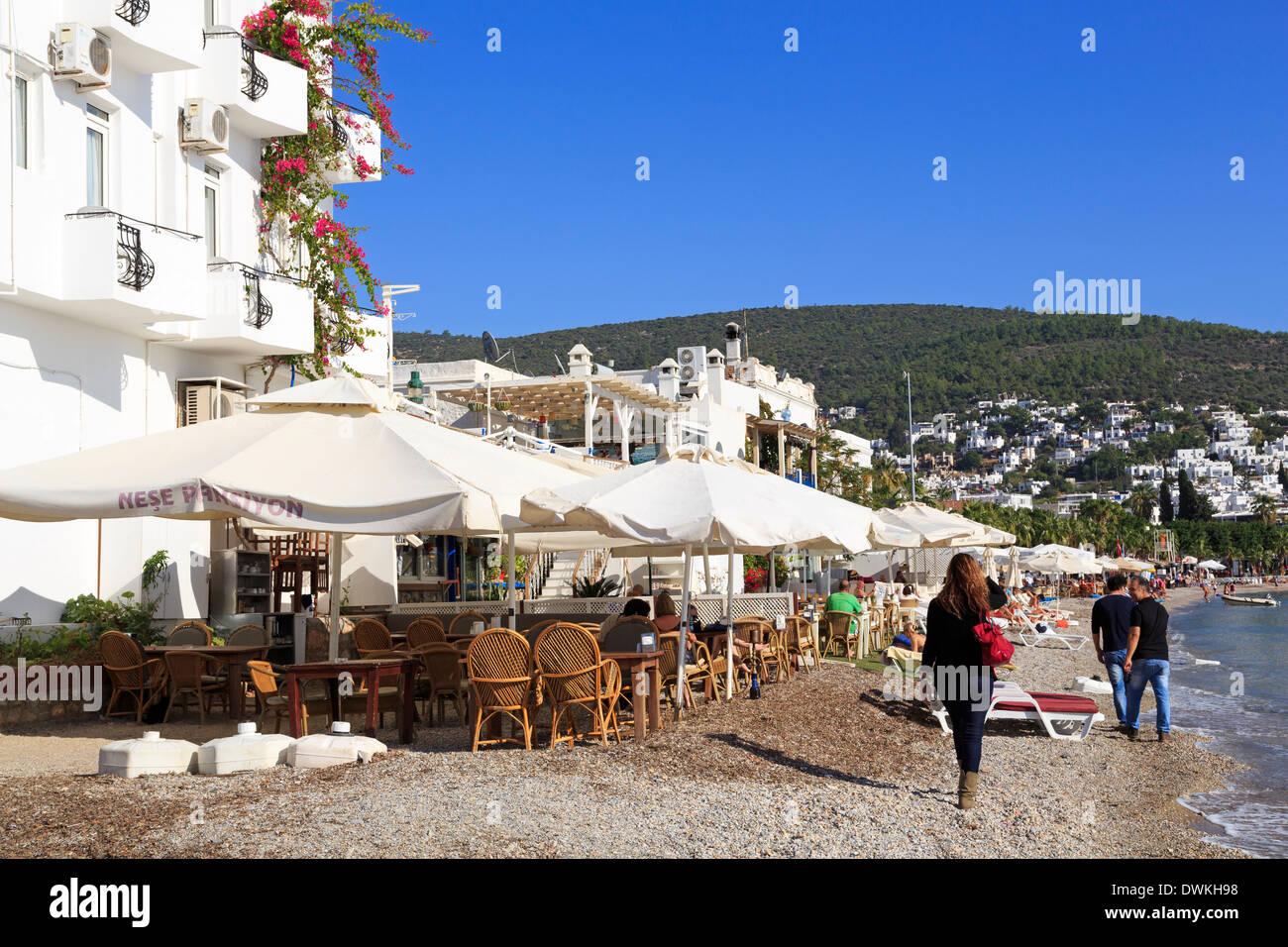 Bodrum waterfront, Anatolia, Turkey, Asia Minor, Eurasia - Stock Image