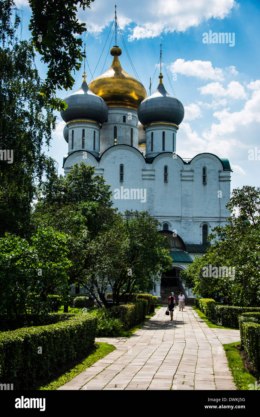 Smolensk Cathedral, Novodevichy Convent, Moscow, Russia, Europe Stock Photo