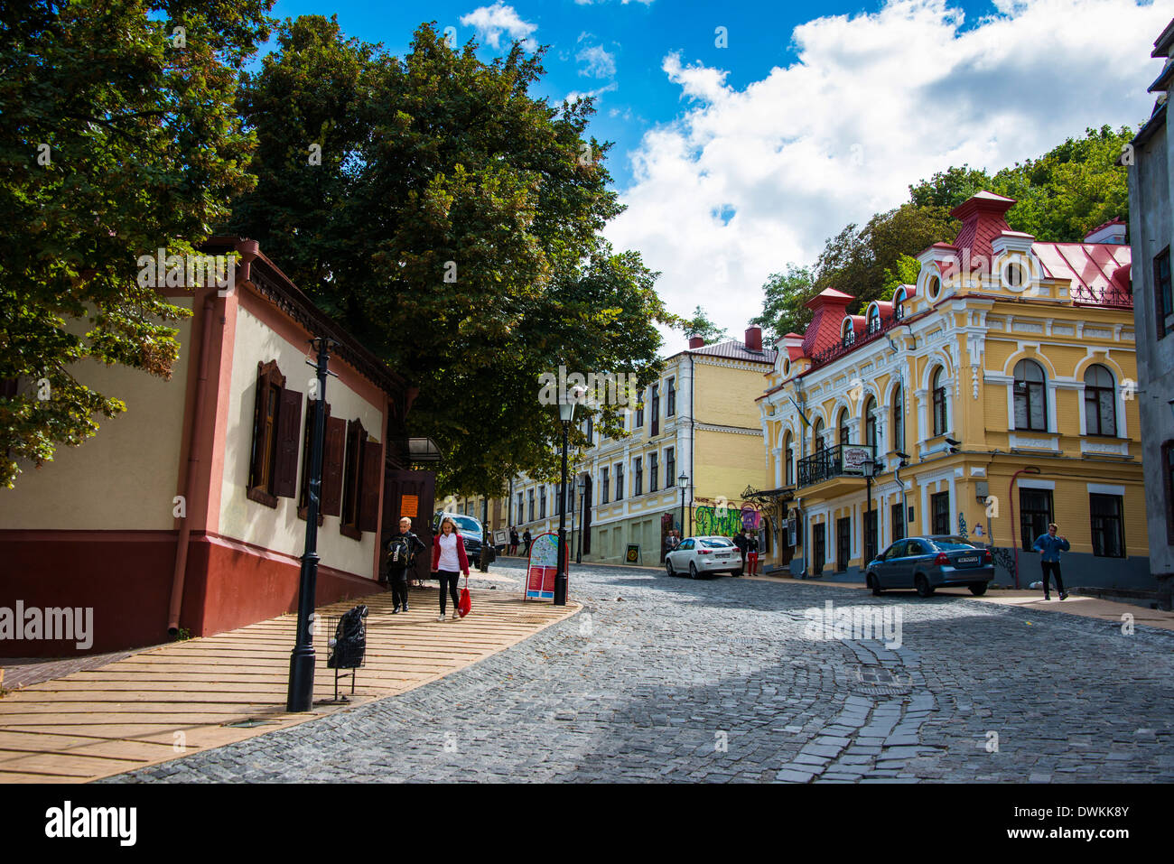 Andriyivsky Uzviz (Andrews Descent) in Kiev, Ukraine, Europe - Stock Image