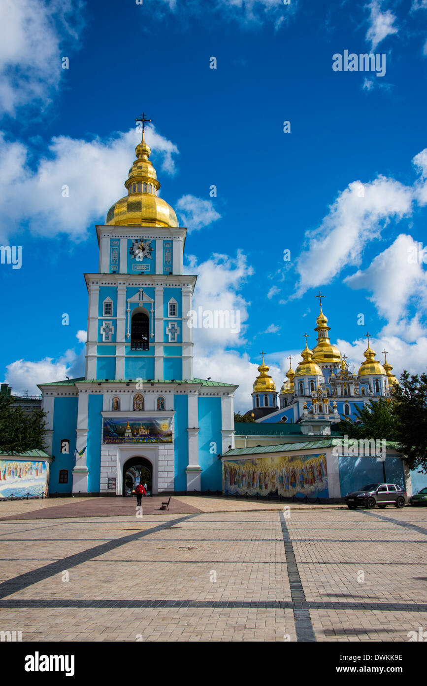 St. Michael's gold-domed cathedral, Kiev, Ukraine, Europe - Stock Image