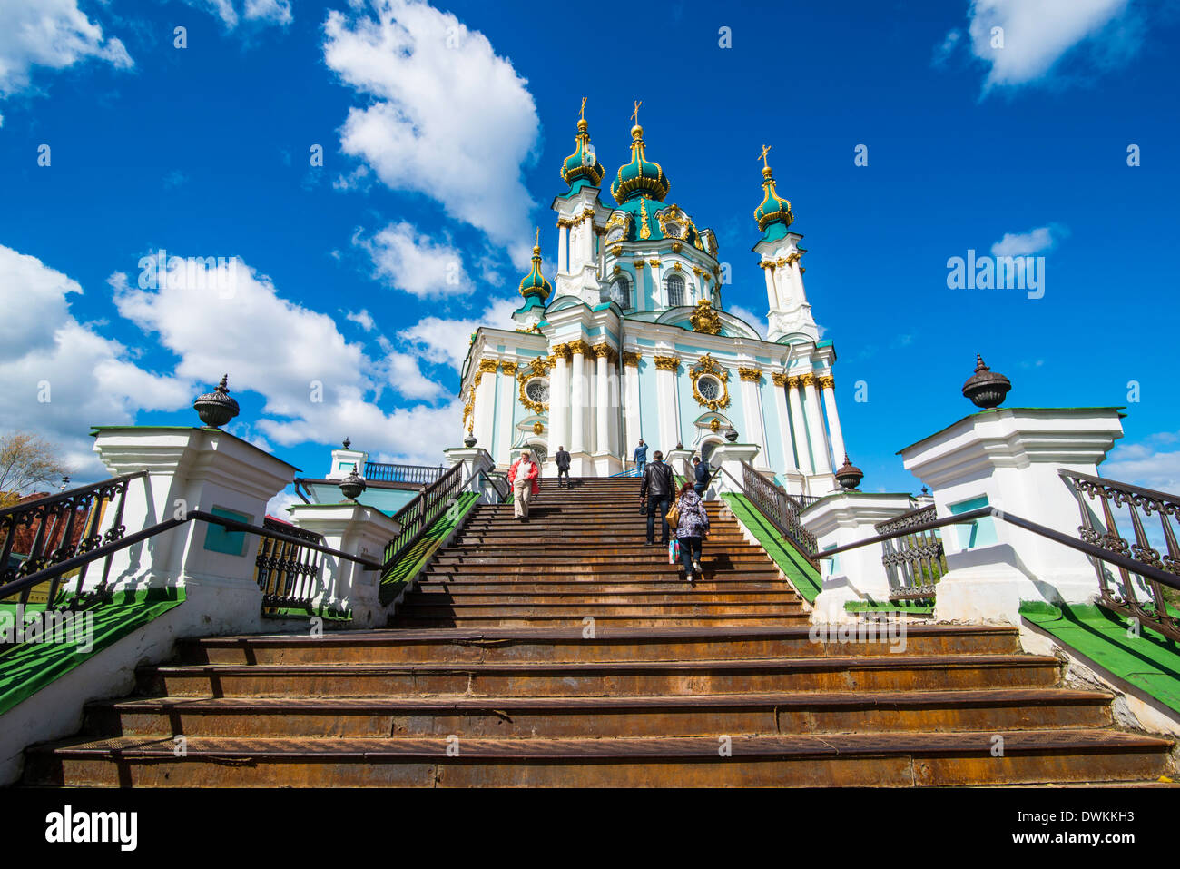 St. Andrews church in Kiev, Ukraine, Europe - Stock Image
