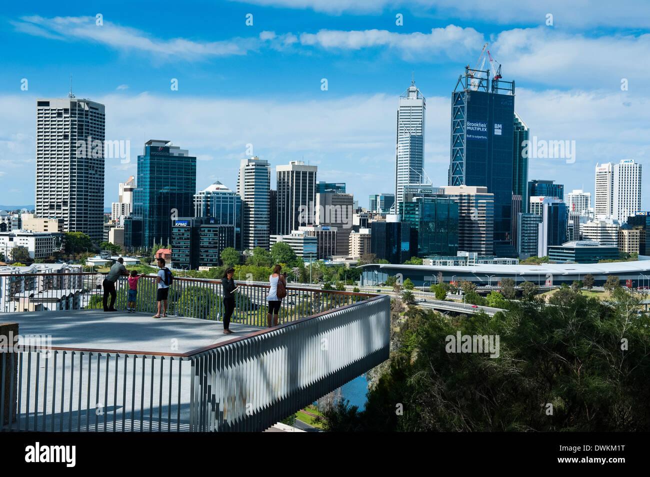 The skyline of Perth, Western Australia, Australia, Pacific - Stock Image