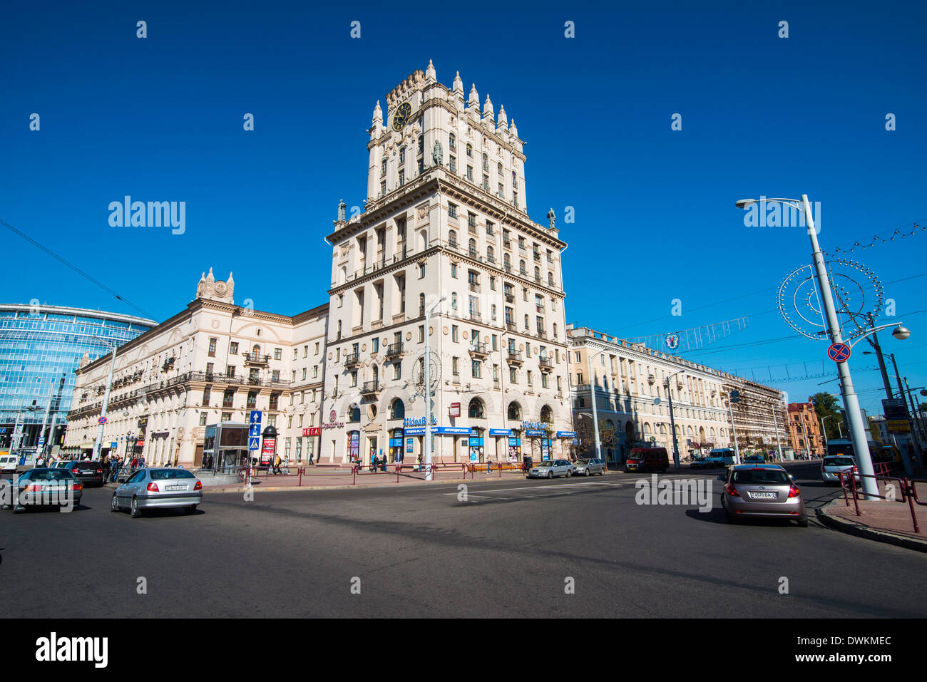 Stalinist architecture in Minsk, Belarus, Europe Stock Photo