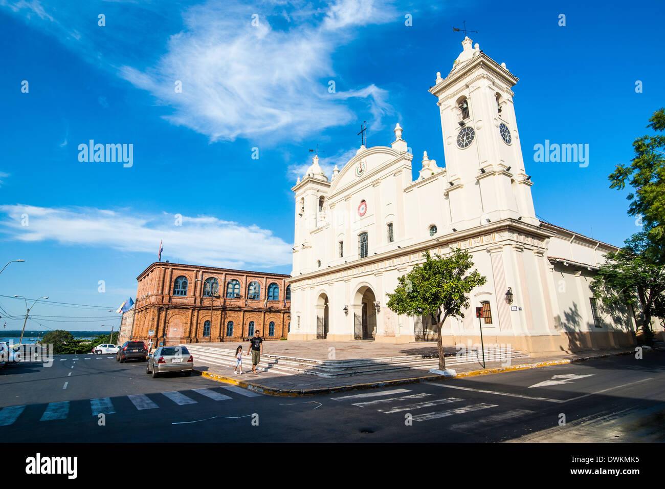 Cathedral of Asuncion, Asuncion, Paraguay, South America - Stock Image