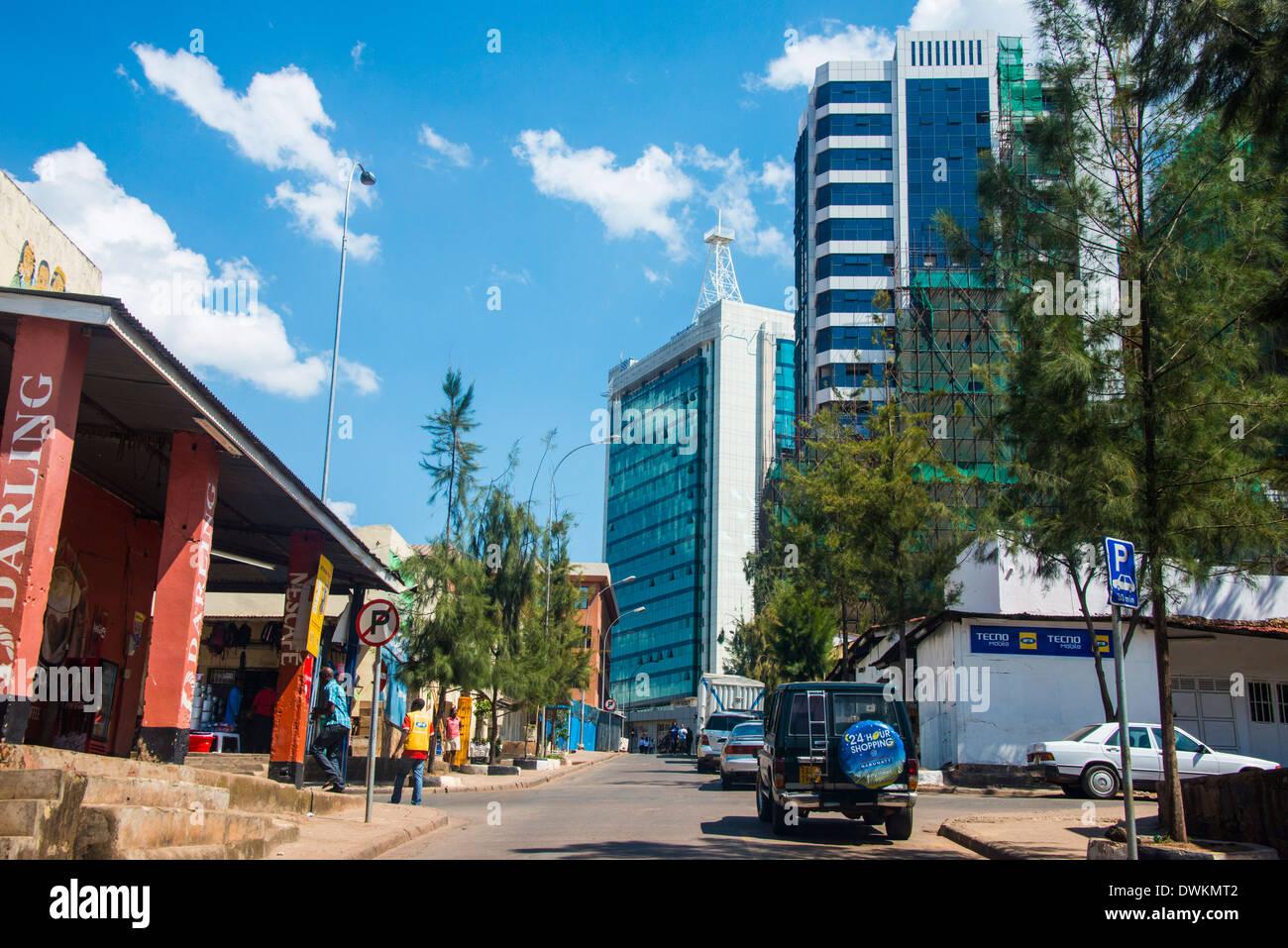 Downtown Kigali, Rwanda, Africa - Stock Image