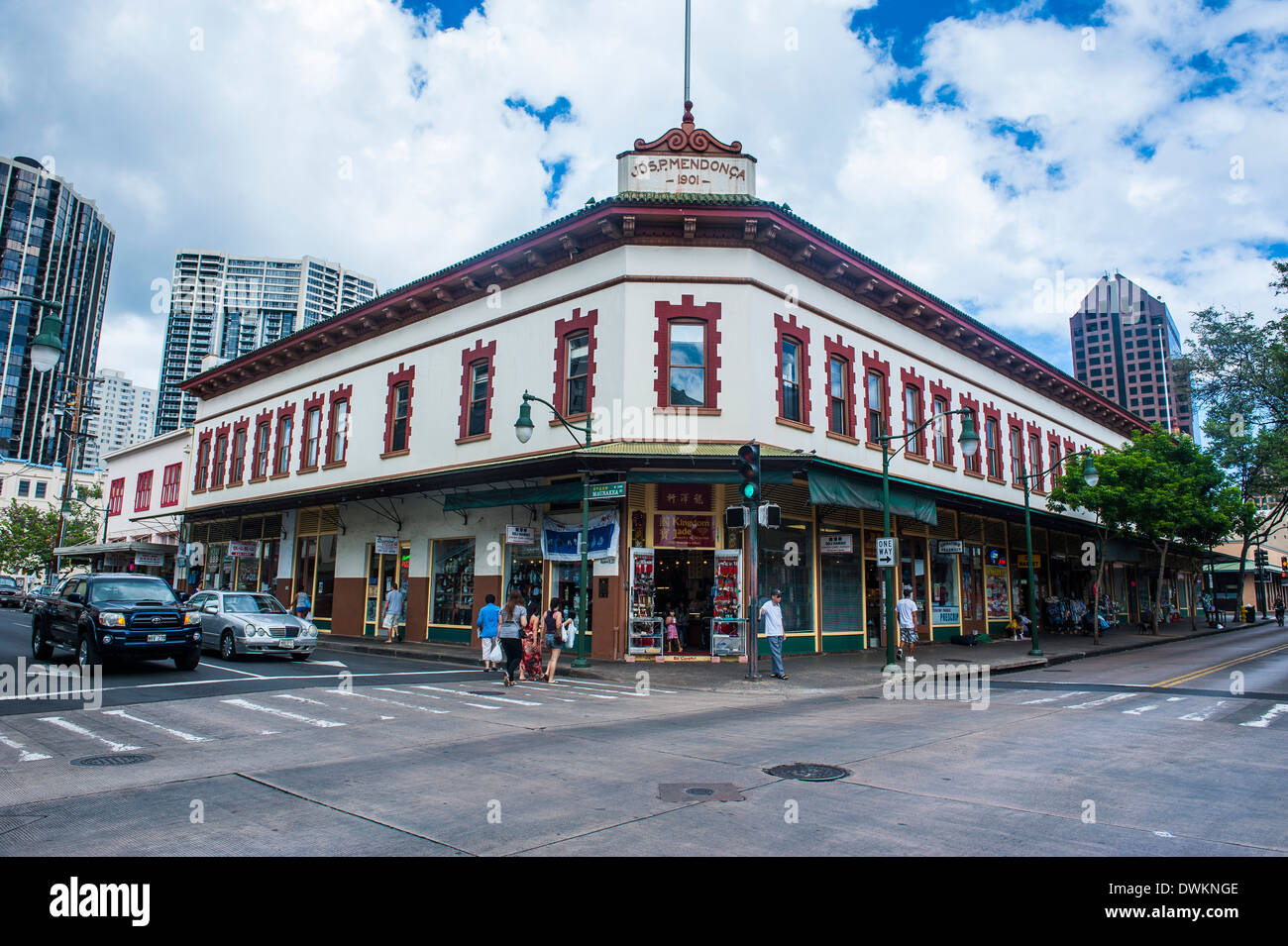 Historic Buildigns In Downtown Honolulu, Oahu, Hawaii, United States Of  America, Pacific