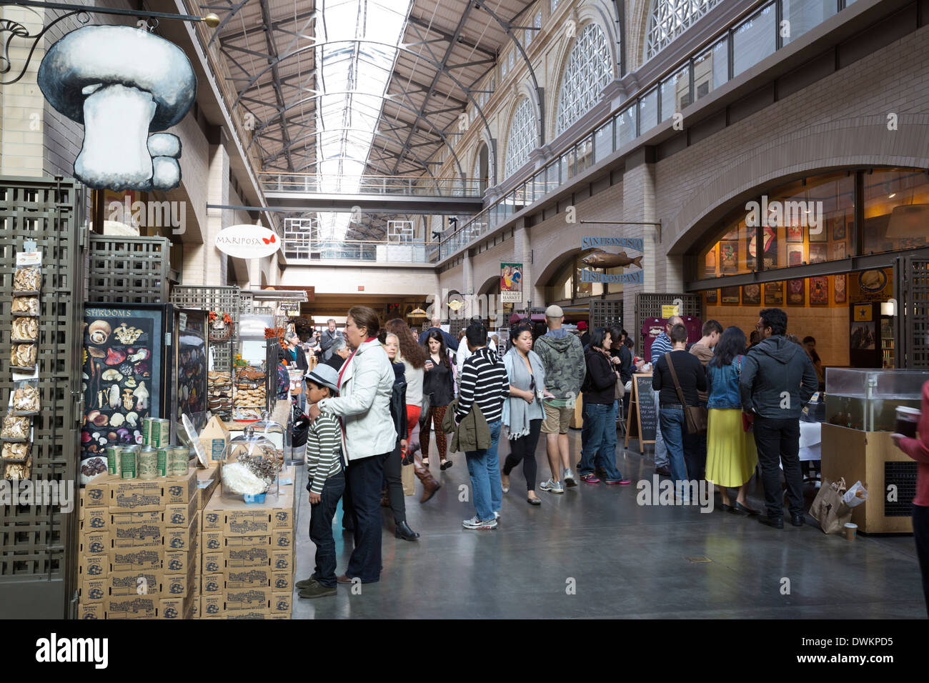 Ferry Building Marketplace, San Francisco, California, United States of America, North America - Stock Image